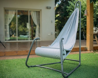 Hang Urban Grey - Hanging chair with stand for indoor and outdoor