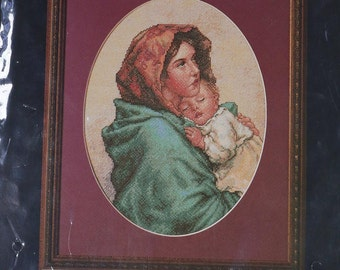 Bucilla Counted Cross Stitch Mother and Child
