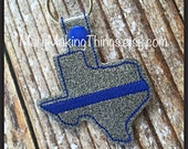 Texas Blue Line - Back the Police Cop - Law Enforcement. Key Fob Support - Police Lives Matter