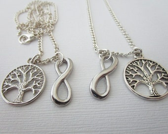 2 Tree and Infinity, Best Friends Necklaces (Set)