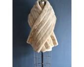 50s mink shawl / vintage bridal stole