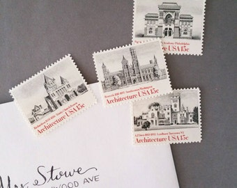 8 Architecture postage stamps