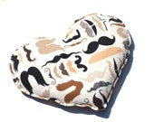 Natural Heating Pad, , mustache flannel, chocolate chip cookies Heart Neck and Sinus Heat Pack. Microwavable Heating Pad