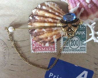 Old Vintage Stick Pin with Chain