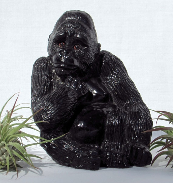 Realistic gorilla figurine by dayjahview on etsy - Gorilla figurines ...