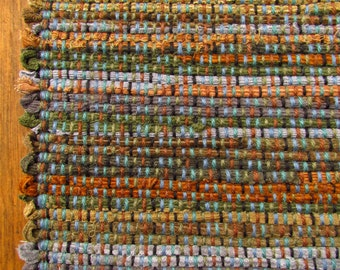"""Woven RAG RUG Runner 30""""x66"""" 200 year old Recycling Tradition"""