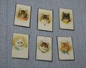 Gaël Miniature Vintage Cats Letters and Postcards 1:12 Scale Or 1/6 Scale Dollhouse Miniature playscale Dollhouse Miniature desk accesories