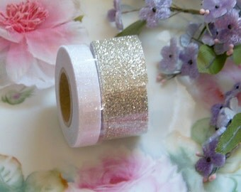 Glitter Washi Tape, Washi Tape Sets, Champagne Washi Tapes, White Glitter Washi, Washi, Decorative Tapes, Craft Tapes, Metallic Tapes Set