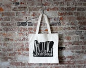 OREGON Hand Lettered Tote Bag Design - Typographic Pacific Wonderland Cotton Canvas Tote Bag - Hand Printed Modern Tote Bag - FREE SHIPPING