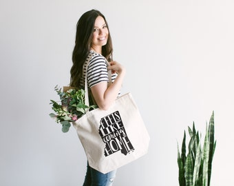 MISSISSIPPI Hand Lettered Tote Bag Design • Feels Like Coming Home Cotton Canvas Tote Bag • Hand Printed Mississippi Tote • FREE SHIPPING