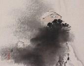 Japanese Fine Art Wall Hanging Scroll Painting Landscape Kakejiku – 1410007