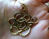 "Sale - Vintage Estate 10K solid yellow gold 2mm wide 16"" long necklace 6.8grams"