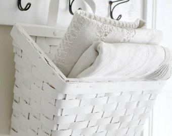 White Hanging Basket