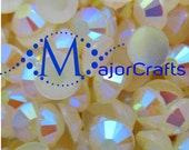 Cream Ivory AB #43 Flat Back Half Round Resin Rhinestones - MajorCrafts Scrapboooking Embellishment DIY Strass Faceted Diamante Craft Gems