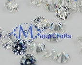 Crystal Clear Round Brilliant Cut Loose Cubic Zirconia Glass Stones - MajorCrafts Jewelry Making Embellishment DIY Diamante Craft Gems