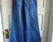 "Vintage 70s OREGON TRAILS Bellbottom Denim High Waist Jeans sz 25"" waist"