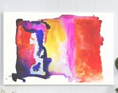 abstract watercolor canva...