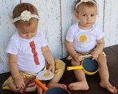 Twin Bacon & Egg Baby Bodysuit and Youth T Shirts