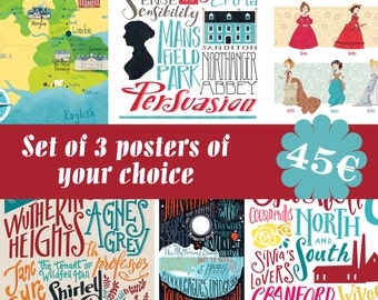 3 illustrated posters of your choice (12,60 x 18,10)