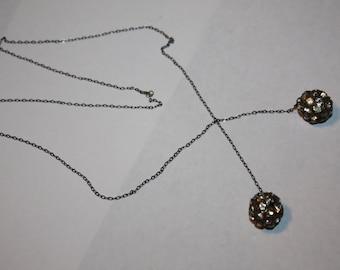 Art Deco Rhinestone Lariat Crystal Necklace 1920s Jewelry