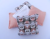 Bean Bag Set of FIVE with Carry Bag - Organic Cotton Flannel