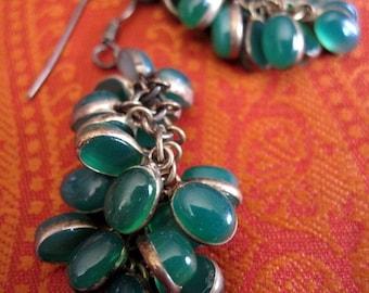 Green Agathe Earrings.
