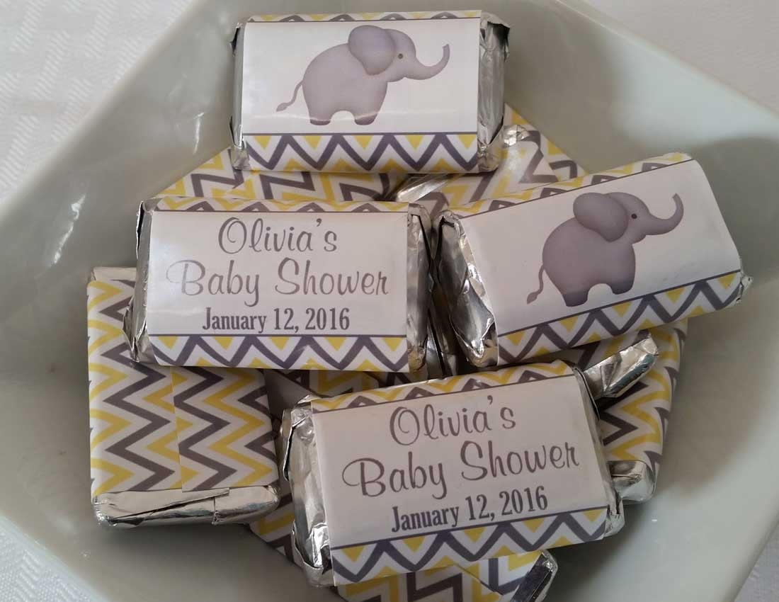 Personalized Printable Mini Candy Bar Wrappers Baby Shower
