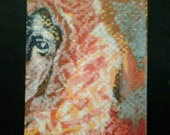 clearance sale aceo AMADEUS original kimartist man mozart music musician composer brut folk outsider pop raw green orange yellow black white