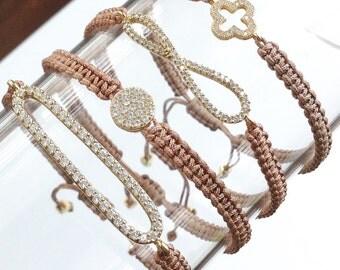 Macrame Pave CZ Bracelet