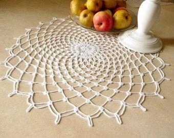 Large lace doily White elegant crochet doilies Table decor Round crochet centerpiece Large crochet doily Crochet decoration