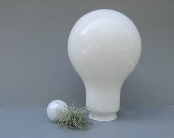 SALE Vintage Milk Glass Giant Light Bulb Lamp Shade