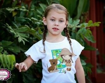 Safari Birthday Shirt, Safari Shirt, Safari Birthday, Safari Number, Zoo Birthday, Girl Birthday Shirt