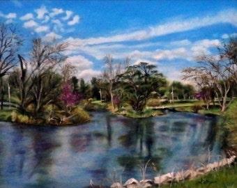 "Fine Art 8 X 10 Print of my Original Landscape Painting ""Spring Pond"""