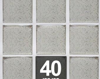 50pcs. 40mm Square Glitter Epoxy Stickers