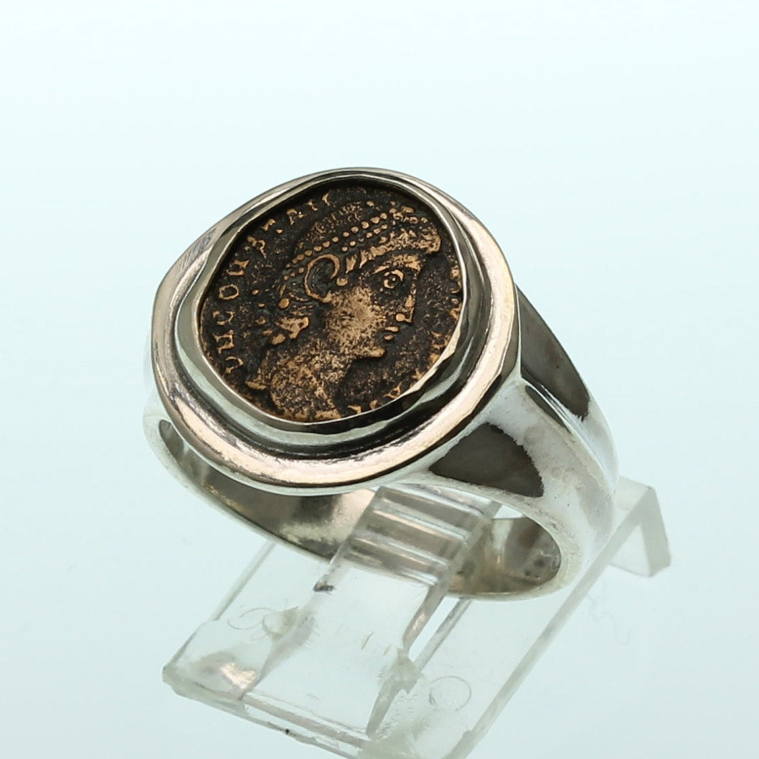 ancient coin ring sterling silver s ring size 10 5
