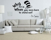 Dr Seuss quote wall decal - Living room quote decal - Bedroom quote decal