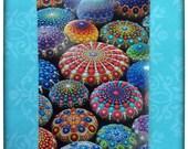POSTCARD- Art Postcard featuring mandala stone collection photograph