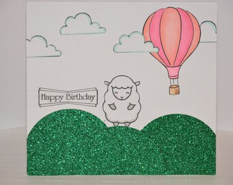 Happy Birthday Lamb Greeting Card