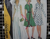 vintage 1970s McCalls sewing pattern 4060 misses pullover dress sleeveless maxi  size 18