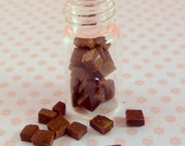 1:12 scale.....Jar of Chocolate Fudge...dolls house miniature food by Small Portions