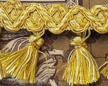 1.21 Metres of Exquisite Classic French Antique Gold Tassled Passementerie Trim-Lovely Detail-so Unique & Beautiful!