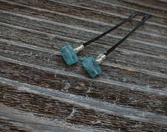 Brilliant Blue Kyanite Gemstone Hair Pins Decorative Blue Bobby Pins Blue Wedding Hairpins