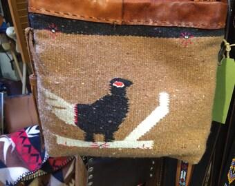Hand made from vintage southwest blanket bag
