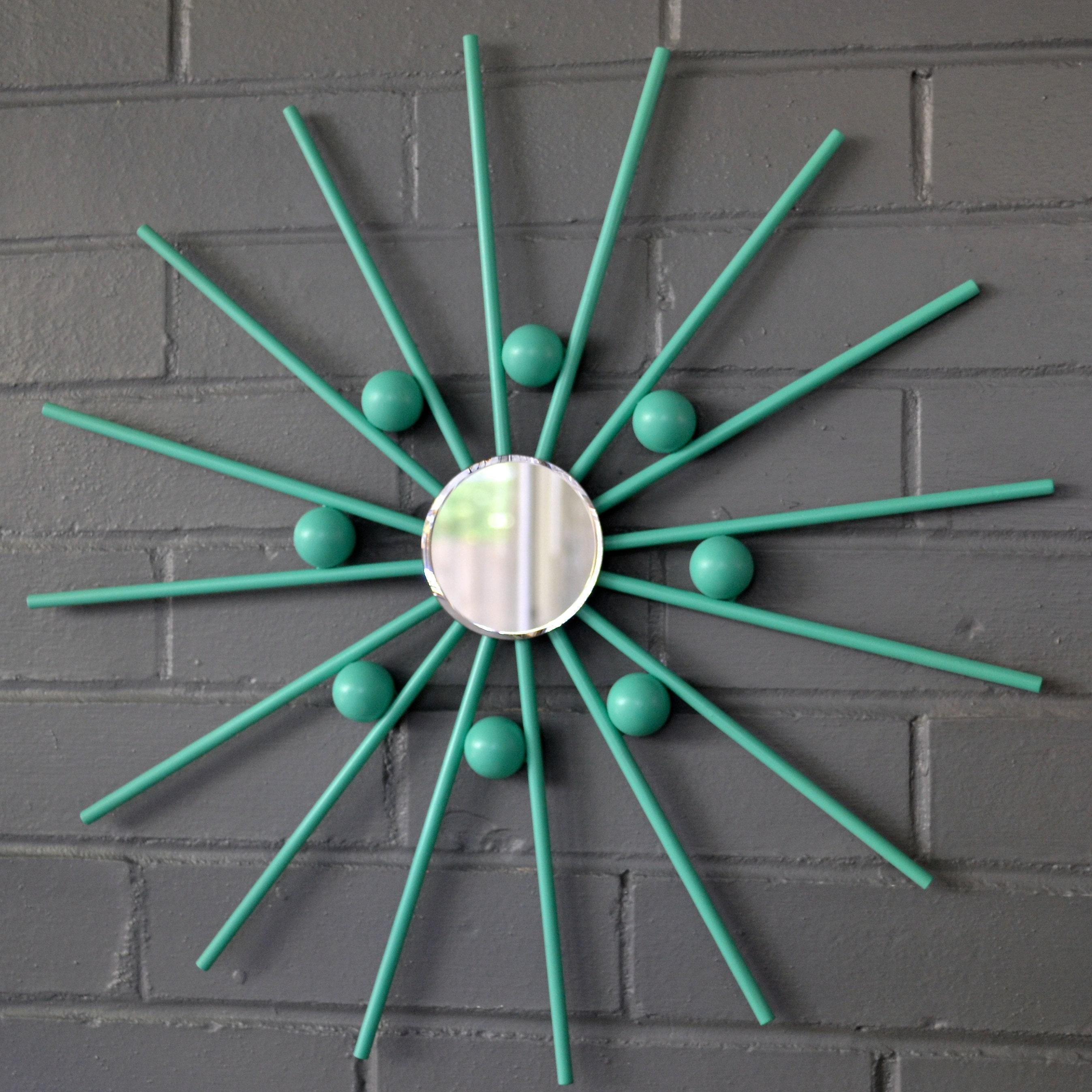 Atomic Starburst Metal Mid Century Modern MCM Wall Art Interior Design  Mirror Retro Handmade Steel Sunburst Christmas Gift Idea Home Decor