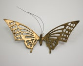 Brass butterfly wall hanging boho home decor vintage gold