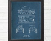 World War Two German Panzer 38(t) Tank Blueprint - Varying Sizes Available