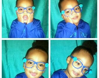 Embellished OR plain children's nerd frames-No lens-Ready to ship