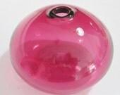 Vintage Pilgrim Cranberry Glass Bud Vase, Round Globe Bud Vase, Modern Bud Vase, Blown Glass Vase