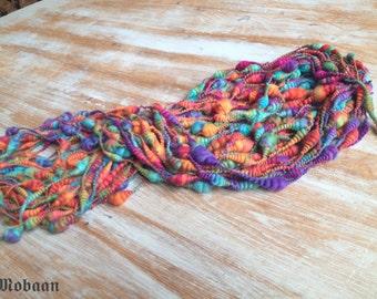 "Art Yarn ""multicolored"", handspun, wool"