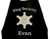Boy's Super Hero  Ring Security Monogram  Cape,  Embroidered Ring Bearer Cape Personalized Wedding Photo Op